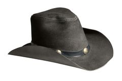 Leather cowboy hat Stock Images