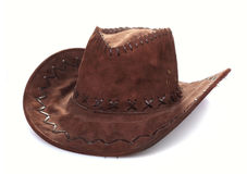 Leather cowboy hat Royalty Free Stock Images