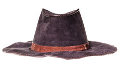 leather cowboy hat Royalty Free Stock Photography