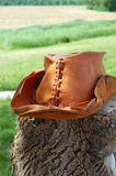 Leather Cowboy Hat Stock Photography