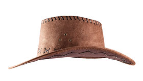 Leather cowboy hat shot side Royalty Free Stock Photo