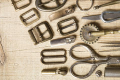 Leather craft background Royalty Free Stock Images