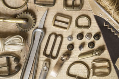 Leather craft background Royalty Free Stock Photo
