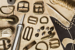 Leather craft background Royalty Free Stock Photos