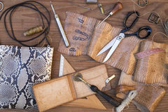 Leather craft background Stock Images