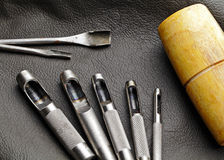Leather craft equipment Stock Image