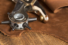 Leather craft punch Stock Photography