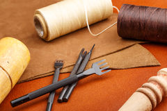 Leather craft tool Royalty Free Stock Photos