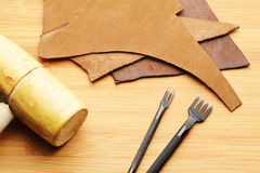 Leather craft tool Stock Images