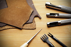 Leather craft tool Royalty Free Stock Photo