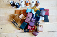 Leather craft tools for Handmade key ring Stock Image