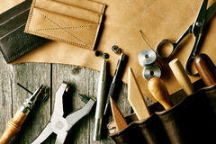 Leather crafting tools Stock Image
