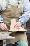 Leather craftsmen. Royalty Free Stock Photos
