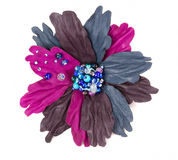 Leather decorative flower Royalty Free Stock Photo