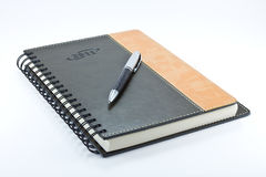 Leather diary 2011. With pen Royalty Free Stock Image