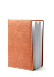 Leather diary book Stock Photography