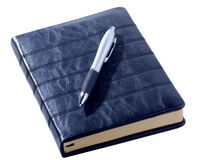 Leather Diary and Pen Royalty Free Stock Photo