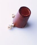 Leather dice cup Royalty Free Stock Photography