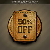 Leather discount label Royalty Free Stock Photos