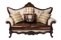 Leather divan Royalty Free Stock Photo