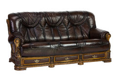 Leather divan Royalty Free Stock Image