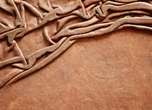 Leather with draped folds Royalty Free Stock Photo