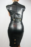 Leather Dress. Sexy Vintage Leather Dress - Fashion Stock Photos
