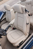 Leather driver seats in luxury sportscar Stock Images