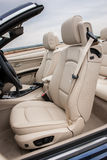 Leather driver seats in luxury sportscar Royalty Free Stock Photo