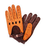 Leather driving gloves Stock Images
