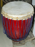 Leather drum. A leather drum commonly used by people of Assam (India) for musical & religious purpose stock images