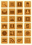 Leather Emboss Smartphone Icon Royalty Free Stock Images