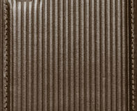 Leather with embossed stripes. Stock Photo