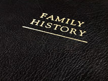 Leather Family History Book Royalty Free Stock Image