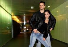 Leather fashion Stock Image