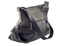 Leather fashion bag Stock Photo