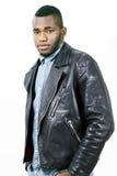 Leather fashion man Royalty Free Stock Photo