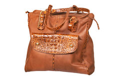 Leather female bag royalty free stock photo