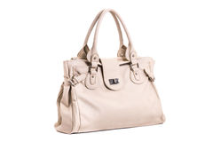 Leather female handbag Stock Photography