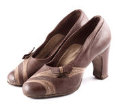 Leather Female Shoes Stock Images