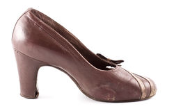 Leather Female Shoes Royalty Free Stock Photography