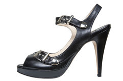 Leather female shoes Stock Photo