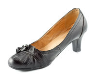 Leather Female Shoes Stock Photography