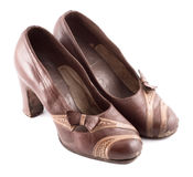 Leather Female Shoes Stock Photo