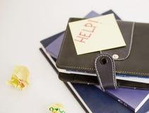 Leather folder Royalty Free Stock Photography