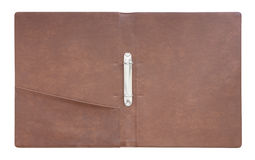 Leather folder cover Stock Image