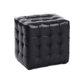 Leather footstool Royalty Free Stock Photo