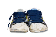 Leather footwear. No leather footwear on white Royalty Free Stock Photos