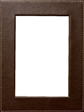 Leather frame Stock Photo