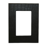 Leather frame Stock Image